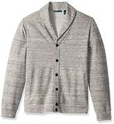 Perry Ellis Men's Cotton Blend Stretch Heather Shawl Cardigan