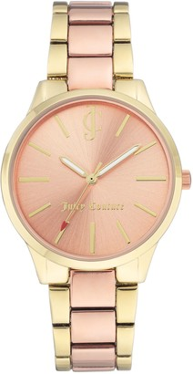 Juicy Couture Two-Tone Watch with Sunray Dial