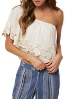 O'Neill Sabrina Ruffle One-Shoulder Top