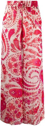 Twin-Set Paisley Print Trousers