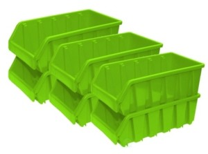 Basicwise Vintiquewise Basic wise Plastic Storage Stacking Bins, Set of 6