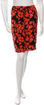 A.L.C. Silk Floral Print Shorts
