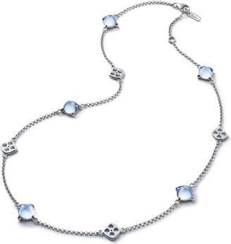 Baccarat Sterling Silver and Crystal Medicis Necklace