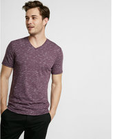 Express shadow pattern v-neck tee