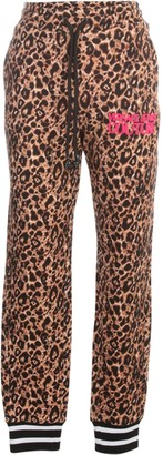 Versace Jeans Couture Leopard Printed Knitted Pants