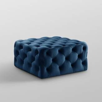 House of Hampton Mudd Square Tufted Cocktail Ottoman House of Hampton