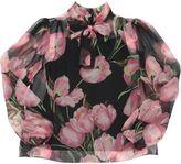 Dolce & Gabbana Floral Printed Silk Chiffon Shirt