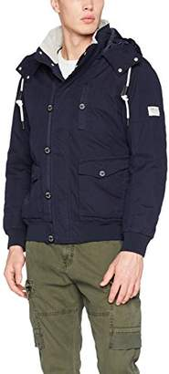 Tom Tailor Men's Army Blouson Jacket, Night Sky Blue 6576, (Size: XX-)