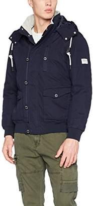 Tom Tailor Men's Army Blouson Jacket, (Night Sky Blue 6576), (Size: )