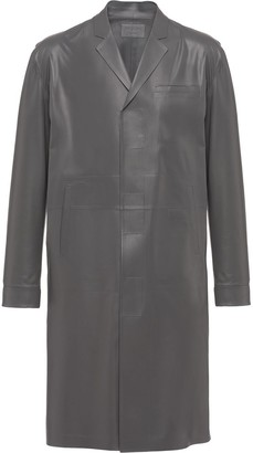 Prada Nappa Leather Midi Coat