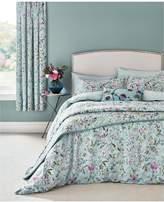 V&A Botanica 100% Cotton Bedspread Throw – Aqua