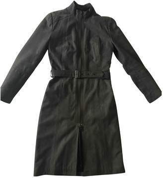 Dna Grey Leather Coat for Women
