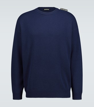 Balenciaga Cashmere knitted sweater with logo