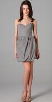 Porter Grey Strapless Dress
