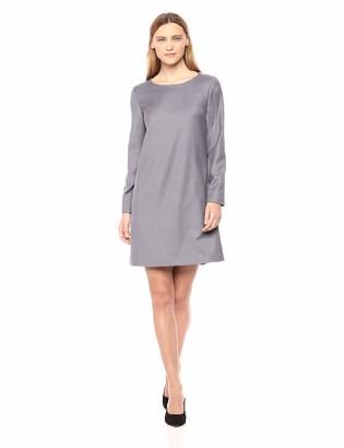 Theory Women's Long Sleeve Paneled Shift Dress