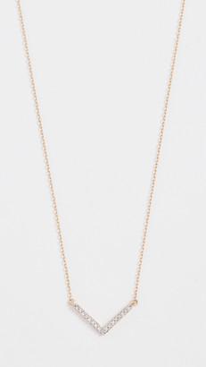 Adina Reyter 14k Gold Tiny Pave V Necklace