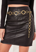 Missguided Circle Chain Belt Gold