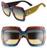Gucci Women's 54Mm Square Sunglasses - Black
