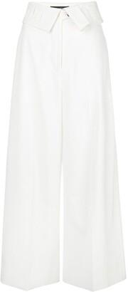 Proenza Schouler Folded Waist Wide Trousers