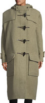 Balenciaga Long Toggle-Front Cashmere-Blend Coat