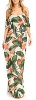 Show Me Your Mumu Women's Caitlin Convertible Ruffle Bodice Chiffon Gown