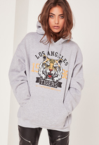 Missguided LA Tigers Sweatshirt Grey