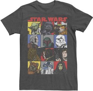 Star Wars Men's Comic Strip Cartoon Group Tee