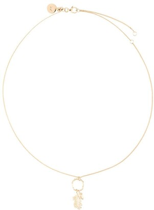 Karen Walker Acorn And Leaf Loop Necklace
