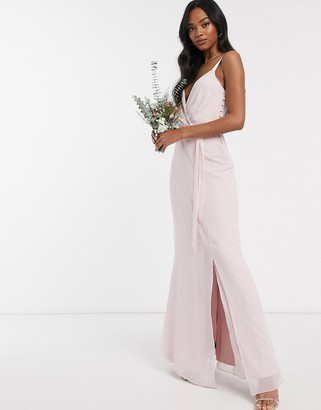 Maids To Measure cami maxi dress with split in chiffon