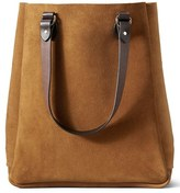 Filson Men's 'Rugged' Suede Tote Bag - Brown