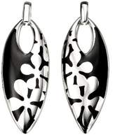 Element Sterling Silver Ladies' E3809B Inlaid Flower Pattern Earrings