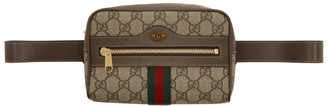 Gucci Beige and Brown GG Supreme Ophidia Belt Bag