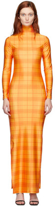 Supriya Lele Orange High Slit Madras Dress