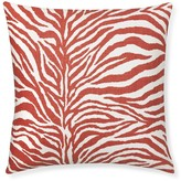 Printed Zebra Pillow Cover, Coral