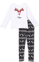 Beary Basics White Personalized Long-Sleeve Tee & Leggings - Toddler & Girls