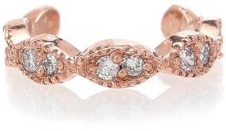 Jacquie Aiche Pave Marquise 14kt rose gold ear cuff with diamonds