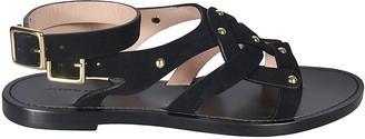 Alberta Ferretti Ankle Strap Side-buckled Flat Sandals