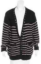 Thomas Wylde Striped Embellished Cardigan