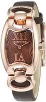 Cerruti Women's Quartz Watch with Black Dial Analogue Display Quartz Leather CRR002 °C283 A