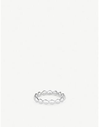 Monica Vinader Nura Teardrop band sterling silver and diamond ring