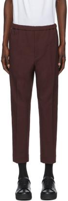 Jil Sander Burgundy Serge Cropped Trousers