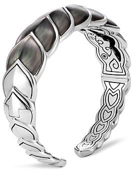 John Hardy Sterling Silver Legends Naga Mother-of-Pearl Medium Flex Cuff