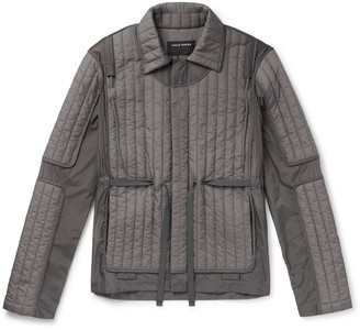 Craig Green Canvas-Trimmed Quilted Shell Jacket - Men - Gray