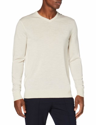 Meraki Amazon Brand Men's Fine Merino Wool V-Neck Jumper