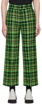 S.R. STUDIO. LA. CA. Green Check Suit Trousers