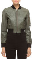 Walter Baker Nicole Leather Bomber Jacket