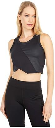 Puma Studio Crop Lace Tank Black) Women's T Shirt