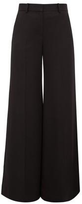 Bella Freud Bianca Wide-leg Wool-twill Trousers - Womens - Black
