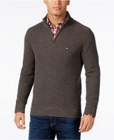 Tommy Hilfiger Men's Big & Tall Harrington Quarter-Zip Sweater