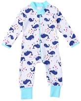 Lestore Baby long sleeve Whale Design & Personalized Bodysuit Costume Outfits (0-6 Months)
